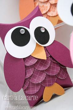 Make these as the Valentine to go with an owl box? Owls are as overdone as chevron though........