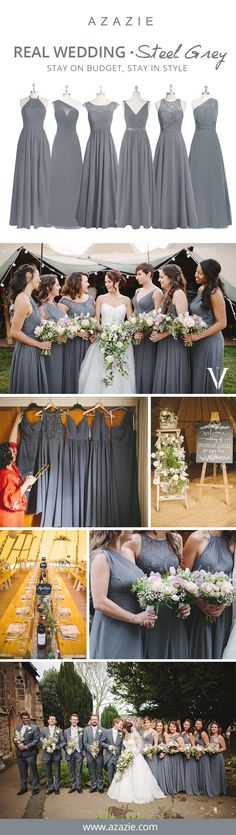 Looking for the perfect color for your bridesmaids this Fall? Steel Grey is the way to steal the show on your wedding day! Let your bridesmaids' personalities shine and mix-n-match your bridesmaid dresses. Choose from 150+ different styles, all for $150 or below!