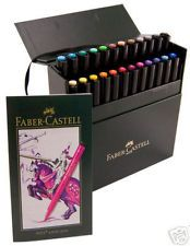 Faber Castell 24 Pitt Artist Pen Markers Brush Tip Pigmented Drawing Ink