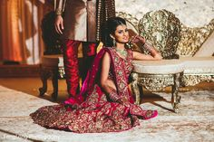 Traditional red and gold lengha http://www.maharaniweddings.com/gallery/photo/89238 @zacharylong