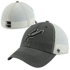 47 Brand San Antonio Spurs Hardwood Classics Caprock Canyon Flex Hat -  Charcoal White faf895e89170