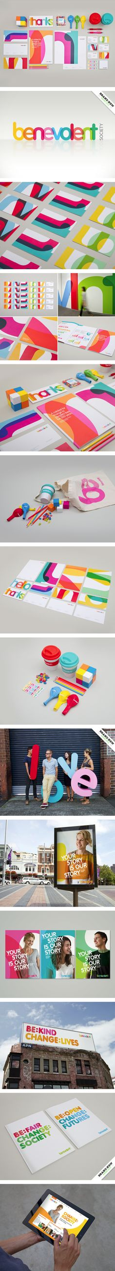 """Benevolent Society on Behance"" - the overlapping colors"