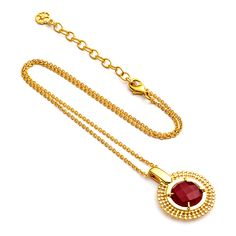 Bohemian Fairtrade Jewellery by Azuni London. #halloween #necklace #gemstone #red #etrusca #gold  www.azuni.com