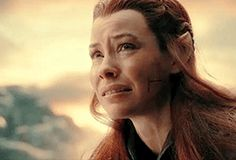 """Why does it hurt so much?""<= I might not be the biggest fan of Tauriel, but this was a lovely scene, sorrow and heartbreak. Showing the deadliest thing to elves, a broken heart."