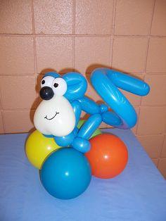Blue Monkey balloon animal