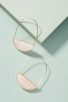 Beatiful earrings! Mignonne Gavigan Stone Crescent Hoop Earrings #anthropologie #anthrofave #anthrohome #earrings #style #giftsforher #ad
