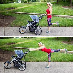 Leg hinge with stroller
