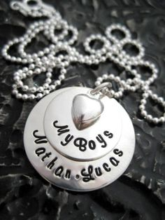 Personalized Necklace  Hand Stamped Jewelry  My by BragAboutIt, $60.00