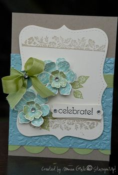Top Note w stamped borders, embossed piece, circles