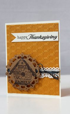 Happy Thanksgiving Card Giving Thanks by MrsKristenCreations, Limited Edition