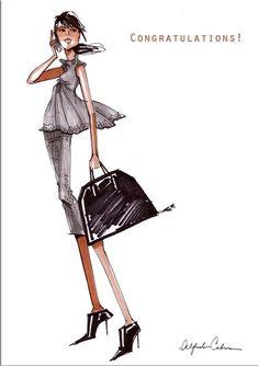 Alfredo Cabrera Illustrator Art - Greeting Card - Congratulations - AC010