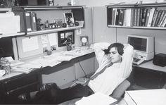 En su despacho de Apple, en 1982 Foto Diana Walker