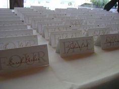 Elegant Tented Escort Cards/ Place Cards by DesigntheDate on Etsy, $0.25