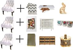 """""""One Great chair, Three points of view"""" by madhattermercantile on Polyvore"""