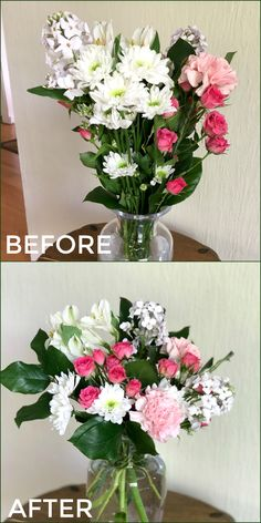 transform a grocery store bouquet into a floral shop arrangement