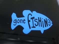 Gone Fishing decal -  Gone Fishing - Fishing Decal - Hunting Decal - Fishing Sticker - Fishing Car Decal - Truck Decal - Laptop Decal by TheSaltyKiss on Etsy