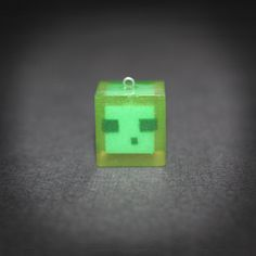 Minecraft  Slime pendant  Glowing slime by SiriusWonders on Etsy