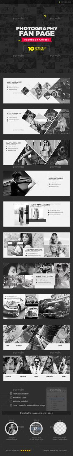 Photography studio design social media 25 new ideas Fb Banner, Facebook Banner, Facebook Cover Design, Facebook Timeline Covers, Web Design, Flat Design, Design Art, Branding, Page Facebook