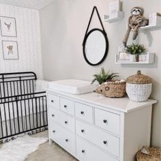 Get inspired by this Coastal Farmhouse Nursery If you are planning to make a gender neutral nursery or baby boy nursery in Coastal Navy Style it is the one to have these amazing images from interior designer Aliesha Porto alieshaporto Nursery Twins, Baby Nursery Decor, Baby Decor, Ikea Nursery, Baby Nursery Neutral, Black Crib Nursery, Gender Neutral Nurseries, Baby Nursery Ideas For Boy, Ikea Girls Bedroom