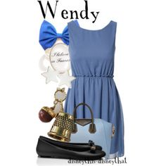Wendy (Outfits by DisneyThis-DisneyThat @Polyvore) #PeterPan