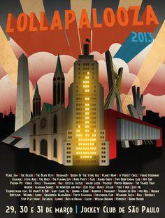 Lollapalooza Brazil 2013 poster - Pearl Jam