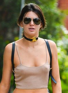 Kendall Jenner goes copies sister Kim Kardashian and goes braless as she runs errands in New York