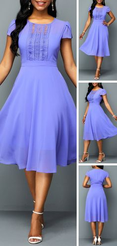 Featured with pure color will show this dress is casual and popular, A Line Chiffon design make it unique with others. Short length will let your leg looks longer and make you slimmer. Dress Outfits, Casual Dresses, Short Dresses, Fashion Outfits, Summer Dresses, African Fashion Dresses, African Dress, Pretty Dresses, Beautiful Dresses