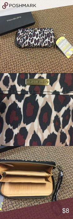 NWT Travel Wallet RFID Blocking to protect cards and identity; comes with wristlet string Bags Wallets