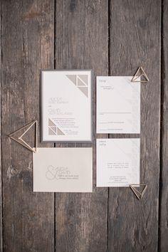 Invitations: Spilled Ink Press - http://www.stylemepretty.com/portfolio/spilled-ink-press Photography: Mallory Berry For MGB Photo - http://www.stylemepretty.com/portfolio/mallory-berry-for-mgb-photo   Read More on SMP: http://www.stylemepretty.com/2015/03/25/modern-geometric-wedding-inspiration/