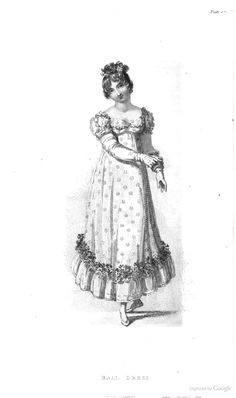 Ball Dress from Ackermann's Repository of the Arts June 1815