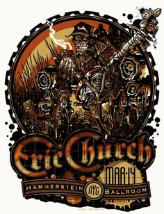 Props to Eric Church for bringing country fans into the silkscreen poster world. Some great pieces are showing up on his tour.