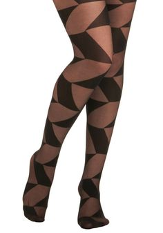 angle patterned tights