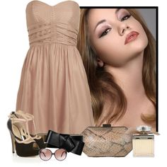 """""""Nude"""" by clairestorace on Polyvore"""