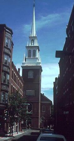 Old north church Boston.  Maybe there is something there...