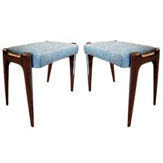 Pair of Benches Attributed to Ico & Luisa Parisi   From a unique collection of antique and modern stools at http://www.1stdibs.com/furniture/seating/stools/