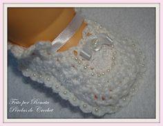 * Pérolas do Crochet: Vestidinho de Croche para bebe - Batizado