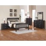 Crown Mark - 5-PC Mission Navy Finish King Slatted Platform Bedroom Set - 59B8500-K-S5  SPECIAL PRICE: $1,293.00