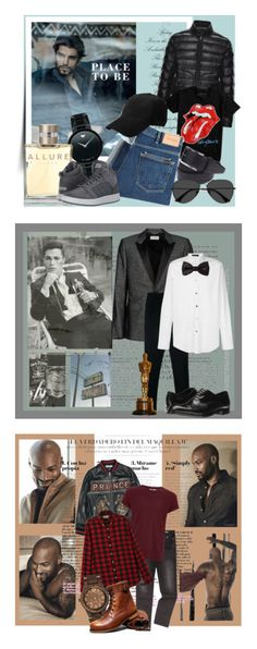 """""""Men's Fashion 1"""" by dmiri ❤ liked on Polyvore featuring Movado, Moncler, Hot Topic, Chanel, PS Paul Smith, adidas, EyeBuyDirect.com, men's fashion, menswear and Junk Food Clothing"""