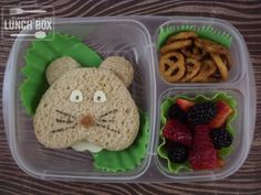 mommy + me lunch box: Groundhog's Day Lunch