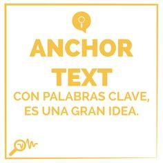 Anchor Text con palabras clave es una gran idea.