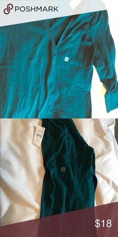 NWT Ann Taylor Loft Outlet, emerald cardigan So gorgeous, emerald jewel colored cardigan.  Super soft! Sweaters Cardigans