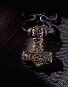 A gold-plated Mjölnir pendant discovered in Erikstorp, Sweden, 9th century