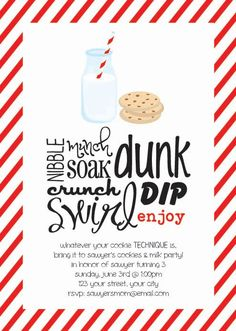 Cookies and Milk  printable custom birthday party by lifewelllived, $18.00