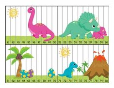 dinosaur numbers puzzle activity
