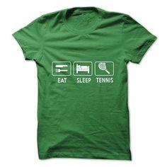 EAT SLEEP TENNIS T Shirts, Hoodies, Sweatshirts. CHECK PRICE ==► https://www.sunfrog.com/LifeStyle/EAT-SLEEP-quotTENNISquot-SHIRT.html?41382