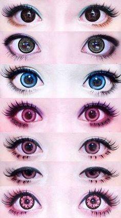 New makeup tutorial asian circle lenses ideas Pastel Goth Makeup, Gyaru Makeup, Kawaii Makeup, Cute Makeup, Makeup Art, Anime Eye Makeup, Lolita Makeup, Asian Makeup, Korean Makeup