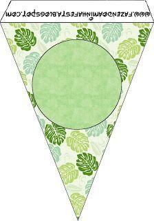 Folhas - Kit Completo com molduras para convites, rótulos para guloseimas, lembrancinhas e imagens!