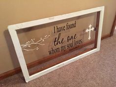 Wood Windows with quotes
