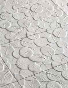 Artistic Tile I Michael Aram Collection for Artistic Tile I Leaf ceramic tile in Gloss White http://www.artistictile.com/itemdetails.aspx?Pid=2217&Cid=51&Mname=Michael%20Aram