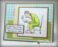 Art Impressions Rubber Stamps: Ai @ Hobby Lobby: AICS32 - Hot Java Mama Clear Stamps ... handmade coffee themed card.